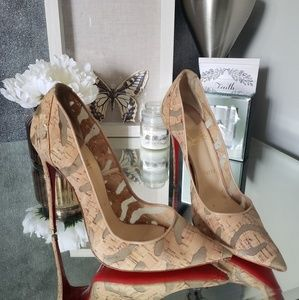 Christian Louboutin So Kate 120 cork devore heels
